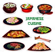 cuisine japonaise traditionnelle icône de dessin animé pour le traditionnel dîner cuisine japonaise