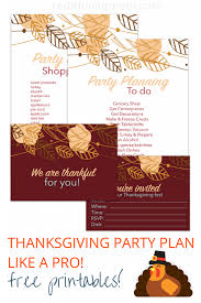thanksgiving planning free printables redefining