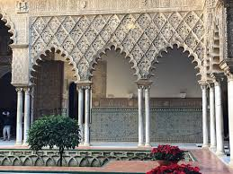 moorish architecture moorish architecture inside the alcázar courtyard picture of