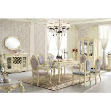 wholesale white lacquer rococo luxury dining table prices buy