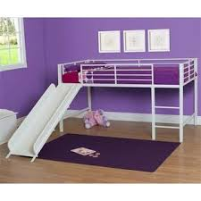 Metal Loft Bed Frame Dorel Dhp Junior Metal Loft Bed With Slide And Mattress In White