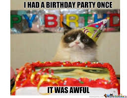 Grumpy Cat Meme I Had Fun Once - grumpy cat had a birthday party once by featherlike meme center