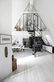 loft style penthouse with industrial details in paris decordemon