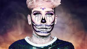 Half Skull Halloween Makeup by Glitter Half Skull Halloween Makeup Tutorial Marvyn