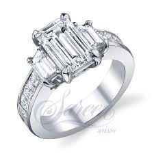 diamond rings handmade 3 stone rings ladies diamond ring