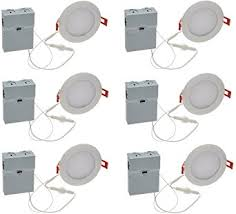 Installing Led Recessed Ceiling Lights Lithonia Lighting Pack Of 6 9 6w Ultra Thin 4 Dimmable Recessed