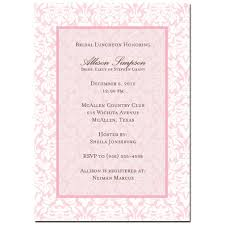 bridal luncheon invites sweet pink damask bridal shower luncheon invitation