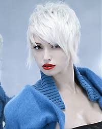 short white hair short funky hairstyles for women with straight white hair pictures