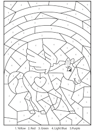 coloring pages free printable magical unicorn colour numbers