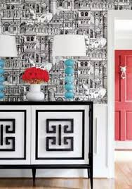 chinoiserie chic greek key wallpaper home inspirations