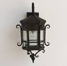 lights of tuscany 7009 1 spanish style iron outdoor lantern lamp