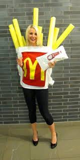 homemade halloween costumes for adults dress up as mcdonald u0027s french fries with this funny diy halloween
