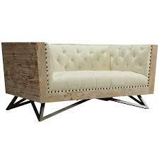 Cream Sofa And Loveseat Amazon Com Armen Living Lcre2cr Regis Loveseat In Tufted Cream