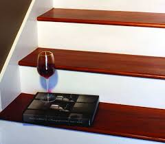 interior great straight staircase design with brown oak tread