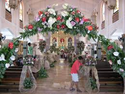 floral decorations of the church wedding ideas wedding decors