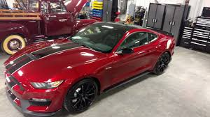 Black Mustang Grey Stripes Ruby Red Black Roof And Stripes