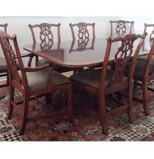Chinese Chippendale Chair by Henredon Duncan Phyfe Style Table And Chippendale Chairs Ebth