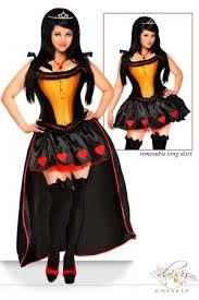 Queen Hearts Size Halloween Costume Green Black Drawer Premium Size 5 Pc Spellbound