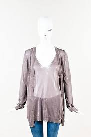 light pink sweater set chic gucci light brown sheer metallic knit shell top cardigan