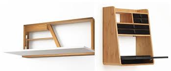 petit bureau bois petit bureau gain de place mini bureau mural bois design à fixer
