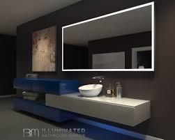 lighted bathroom wall mirror lighted mirror galaxy 85 x 40 in ib mirror