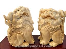 pictures of foo dogs ivory carvings foo dogs the temple lions ivoryandart