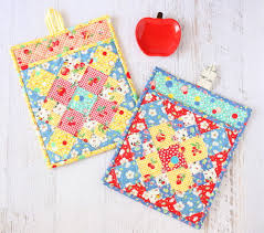 free patterns quilted potholders how to make potholders 25 hot pad patterns allfreesewing com