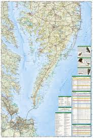 Maryland Zip Code Map by Delmarva Peninsula National Geographic Trails Illustrated Map