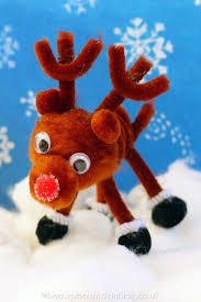 pipe cleaner u0026 pom pom reindeer craft reindeer craft pipes and