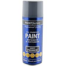 all purpose grey primer spray paint 400ml aerosol dry metal