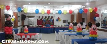 Mickey Mouse Center Pieces Mickey Mouse Centerpieces At Maria Lina Building Cebu Balloons