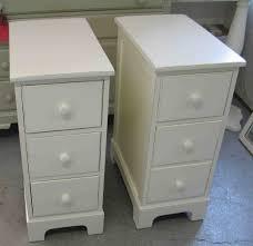engaging furniture white double narrow furnishing bedside cupboard
