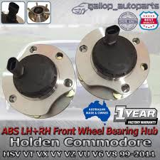 abs left right hand front wheel bearing hubs holden commodore vt