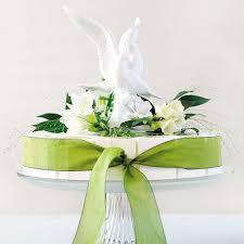 dove cake topper glazed porcelain doves and flower cake topper the knot shop