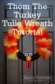 thom the turkey tulle wreath tutorial bombshell bling