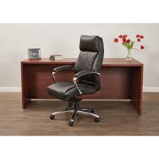 Leather Office Chair Work Smart Black Leather High Back Executive Office Chair Ex9382 3