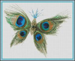 peacock butterfly counted cross stitch and needle point
