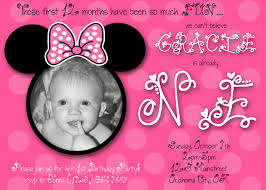 minnie mouse first birthday invitations marialonghi com