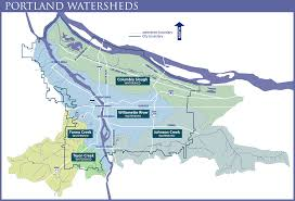 Portland City Maps by Explore Portland U0027s Watersheds The City Of Portland Oregon