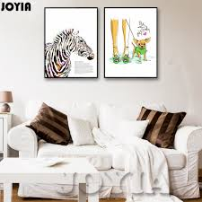 Minimalism Decor Aliexpress Com Buy Colour Zebra Pet Art Canvas Poster Print