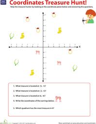 coordinate challenge treasure hunt worksheet education com