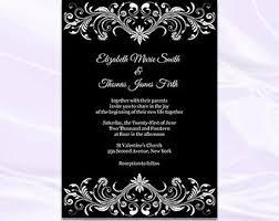 Black Wedding Invitations Blank Black And White Wedding Invitation Templates Lake Side Corrals