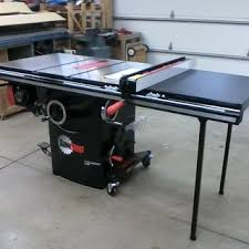 sawstop professional cabinet saw 1 75 hp sawstop professional table saw mobile base mb pcs 000 rockler