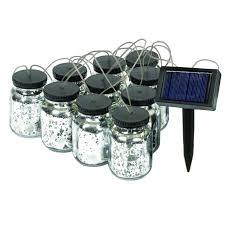 solar string lights 5503 10 malibu black solar jar string lights usalight
