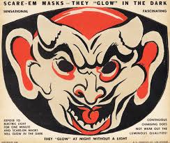 old fashioned halloween masks scare em cut out masks blood curdling blog of monster masks