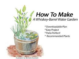 Mini Water Garden Ideas How To Make A Container Water Garden For Your Deck