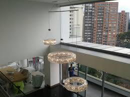 Circular Crystal Chandelier Am8003 Pwg Lighting Intorno Collection Modern Circular Ring Led