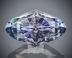 grandidierite engagement ring rare blue spodumene with pleochroism of deep violet down the c