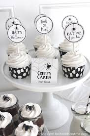 black and white halloween party home design ideas