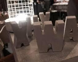 Letters For Home Decor Concrete Letter Etsy